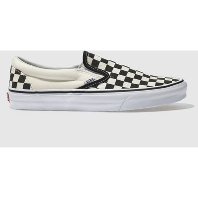 Vans Black & Cream Classic Checkerboard Slip On Trainers