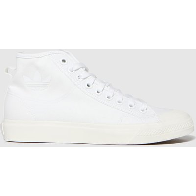 Adidas White Nizza Hi Trainers