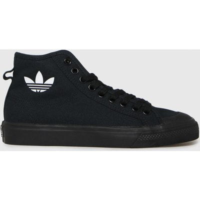 Adidas Black & White Nizza Hi Trainers