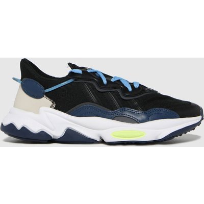 Adidas Black And Blue Ozweego Trainers