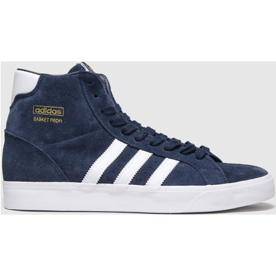 Adidas Navy & White Basket Profi Trainers