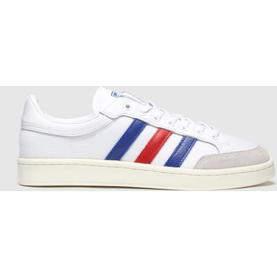 Adidas White & Navy Americana Low Trainers
