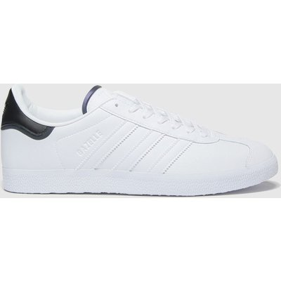 Adidas White & Black Gazelle Trainers