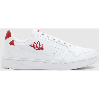 Adidas White & Red Ny 92 Trainers