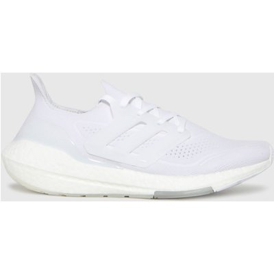 Adidas White Ultra Boost 21 Trainers