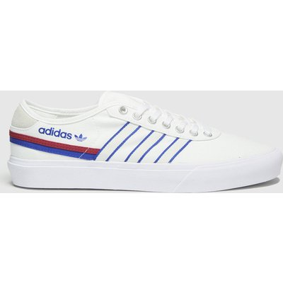 Adidas White & Blue Delpala Trainers
