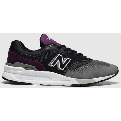 New Balance Black & Purple 997 Trainers