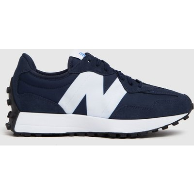 New Balance Navy & White 327 Trainers