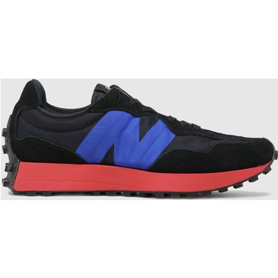 New Balance Black & Navy 327 Trainers