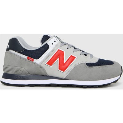 New Balance Pewter 574 Trainers