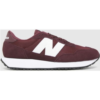 New Balance Burgundy 237 Trainers