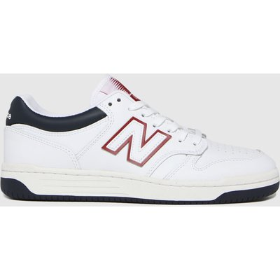 New Balance White & Navy Bb 480 Trainers