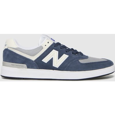 New Balance Grey & Navy All Coasts 574 Trainers