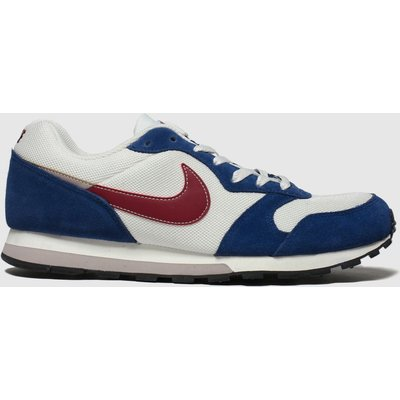 Nike White & Navy Md Runner 2 Trainers