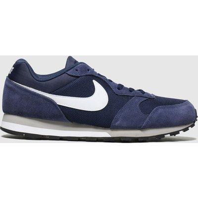 Nike Navy & White Md Runner 2 Trainers