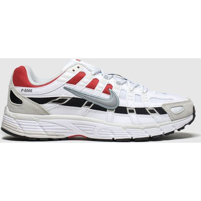 Nike White & Red P-6000 Trainers