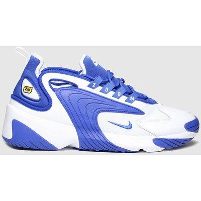 Nike White & Blue Zoom 2k Trainers