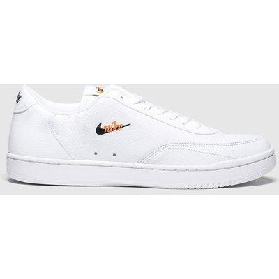 Nike White & Orange Court Vintage Premium Trainers