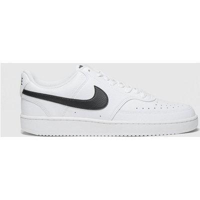 Nike White & Black Court Vision Low Trainers