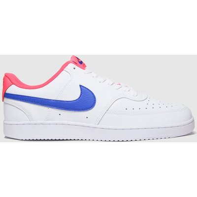 Nike White & Navy Court Vision Low Trainers