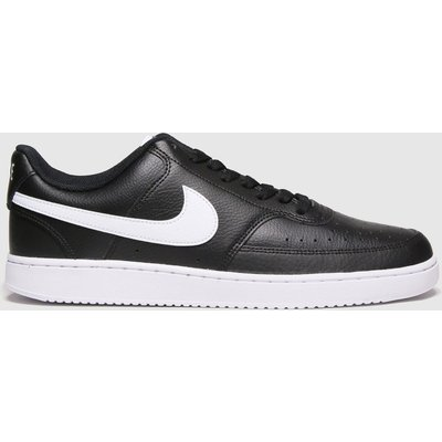 Nike Black & White Court Vision Low Trainers