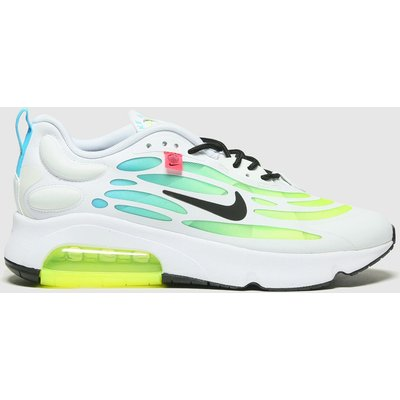 Nike White & Green Air Max Exosense Trainers