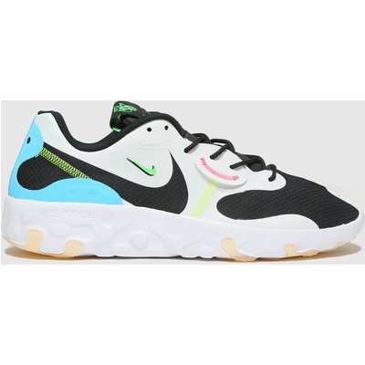 Nike White & Pl Blue Renew Lucent 2 Trainers