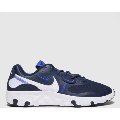 Nike Navy & White Renew Lucent 2 Trainers