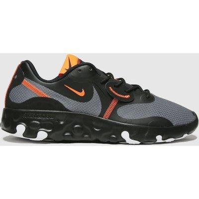 Nike Black & Orange Renew Lucent 2 Trainers