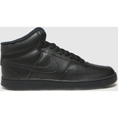 Nike Black Court Vision Mid Trainers