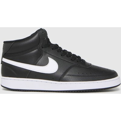 Nike Black & White Court Vision Mid Trainers