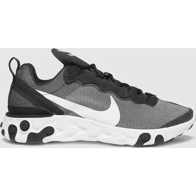 Nike Black & White React Element 55 Trainers