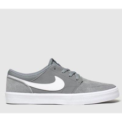 Nike SB Grey Solarsoft Portmore Ii Trainers