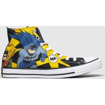 Converse Yellow All Star Hi Batman & Robin Trainers