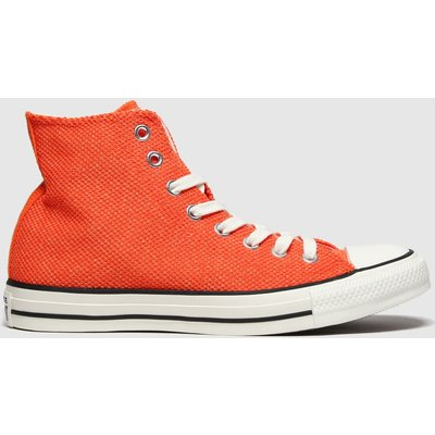 Converse Orange All Star Breathable Hi Trainers