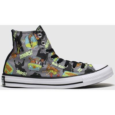 Converse Black & Green All Star Hi Mystery Machine Trainers