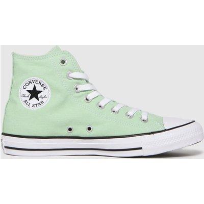Converse Light Green Hi Trainers