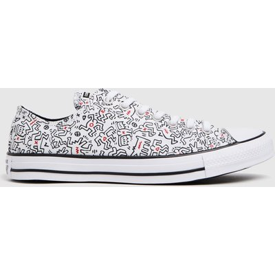 Converse White & Black Keith Haring Ox Trainers
