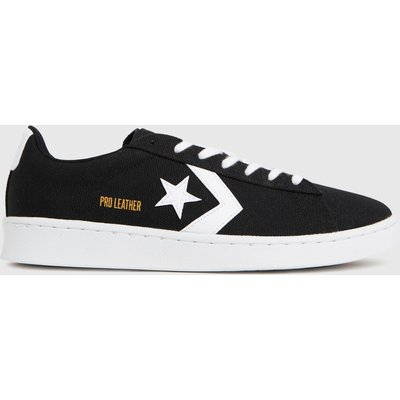 Converse Black & White Pro Leather Court Ox Trainers