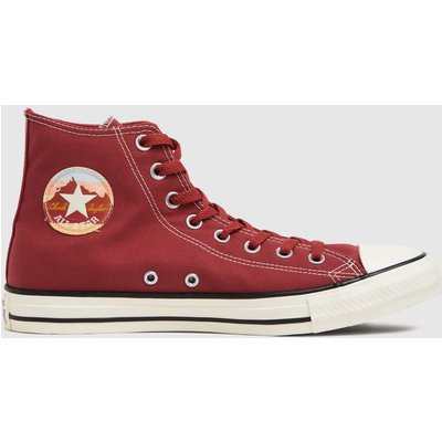 Converse Burgundy National Parks Hi Trainers