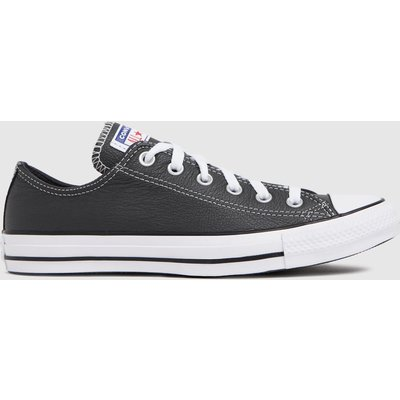 Converse Grey Leather Ox Trainers