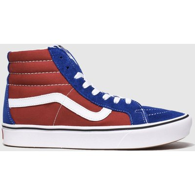 Vans Navy & Red Comfycush Sk8-hi Trainers