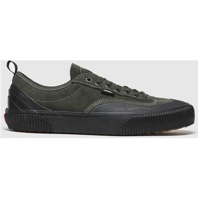 Vans Black & Green Destruct Trainers