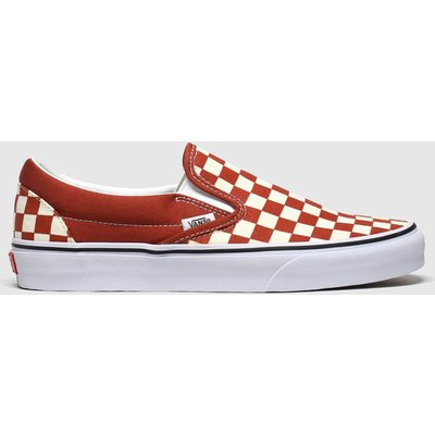 Vans Brown & Stone Classic Slip-on Check Trainers