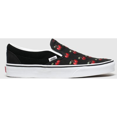 Vans Black & Red Classic Slip-on Cherries Trainers