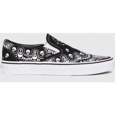 Vans Black & White Slip-on Bandana Trainers