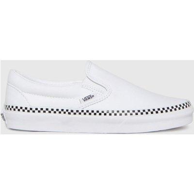 Vans White & Black Classic Slip Check Foxing Trainers