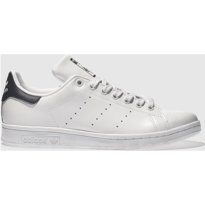 Adidas White & Navy Stan Smith Trainers