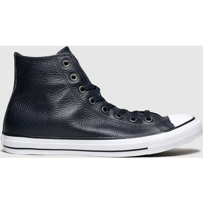 Converse Navy All Star Leather Hi Trainers