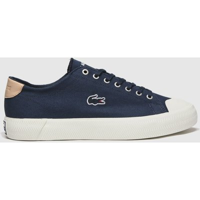 Lacoste Navy & White Gripshot Trainers